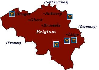 Bruges France Map.Castle Hotels Of Belgium