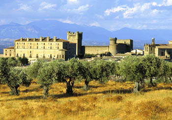 Parador de Oropesa, Spain--a rugged beauty amongst the olive trees of La Mancha.