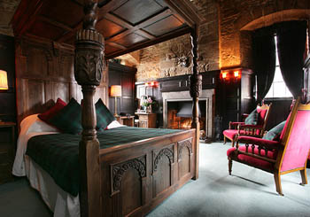 Dornoch Castle, Scotland--sleep like a lord or lady in a gorgeous hand-carved bed.