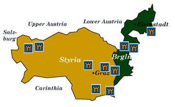 styria and burgenland map