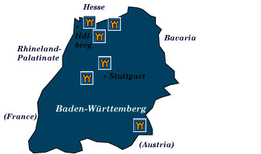 baden-wurttemberg map