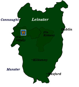 Map Of Ireland Leinster.Irish Castle Hotels Leinster