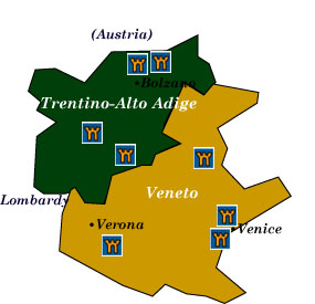 Italian Castle Hotels TrentinoAlto Adige and Veneto