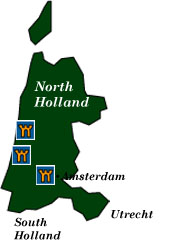 north holland map