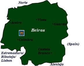 Portuguese Castle Hotels Beira - Portugal estremadura map