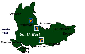 england south east map